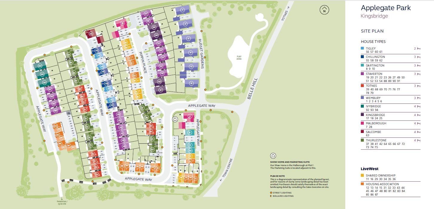 Applegate site plan